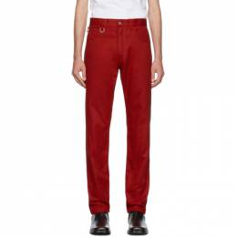 Raf Simons Red Two Ring Regular Fit Jeans 192287M18600806GB