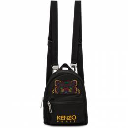 Kenzo Black Mini Canvas Backpack 192387M16600801GB