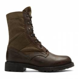 Belstaff Brown Trooper Boots 192084M25500202GB