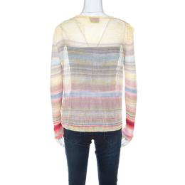Missoni Multicolor Striped Knit Cardigan M 217881