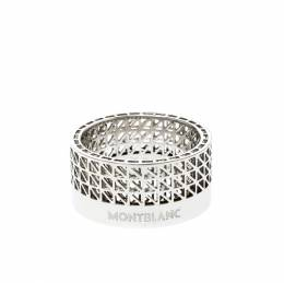 Montblanc Graphic Cutout Steel Band Ring Size 62 219506