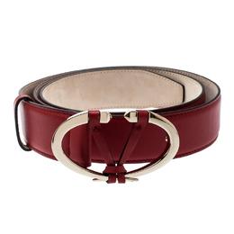 Valentino Rosso V. Leather V Rivet Belt 95 CM 220347