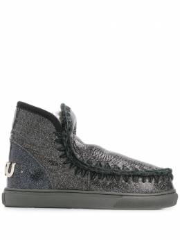 Mou - Eskimo crackled metallic boots W999668C3DCHA9559506