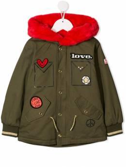 Little Marc Jacobs куртка с меховым воротником и вышивкой W1610664J