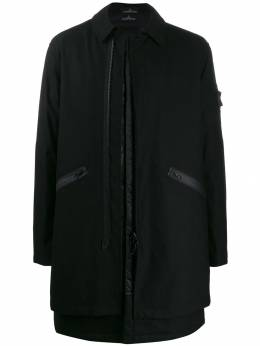Stone Island Shadow Project - zipped single breasted coat 99936069955686330000
