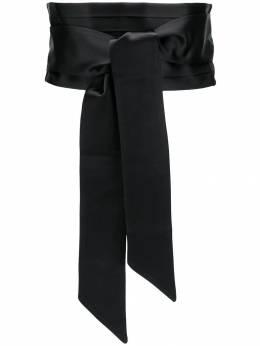Saint Laurent - tuxedo-style tie-waist belt 0093Y699955963560000
