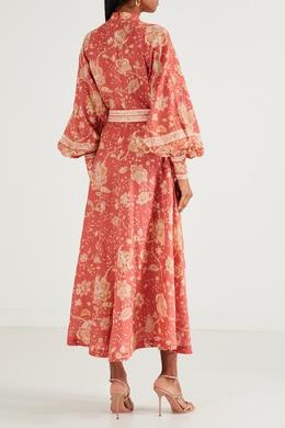 Красное платье с узором Zimmermann 1411147970