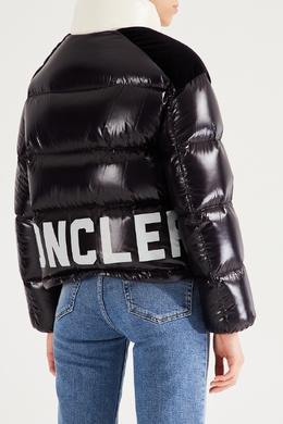 Черная куртка с контрастным воротником Moncler 34147937