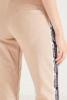 Бежевые брюки с лампасами Adidas 819147003