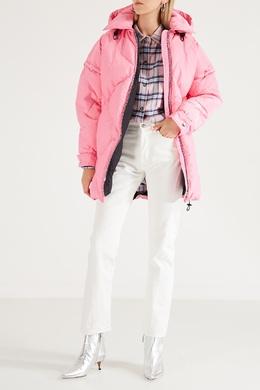 Розовая стеганая куртка MSGM 296147680