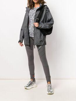 Adidas By Stella Mccartney - легкая куртка с анималистичным принтом 96095306085000000000