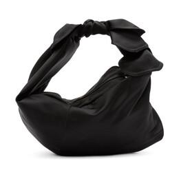 Simone Rocha Black Satin Baby Wrap Bag 192405F04600601GB