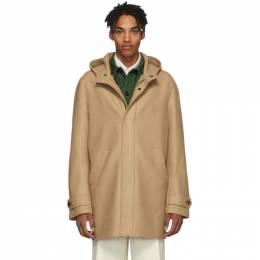Harris Wharf London Tan Virgin Wool Long Parka Coat C9118MLK