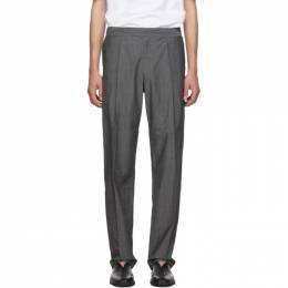 Issey Miyake Men Grey Wool Voile Trousers 192728M19100804GB