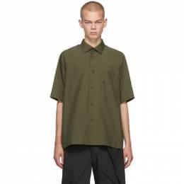 132 5. Issey Miyake Khaki Integrated Pocket Three-Quarter Shirt 192302M19200202GB