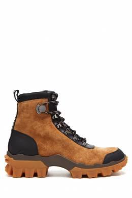 Коричневые ботинки на шнуровке Moncler 34147950