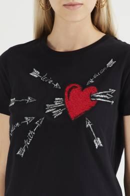 Черная футболка с принтом Red Valentino 986146958