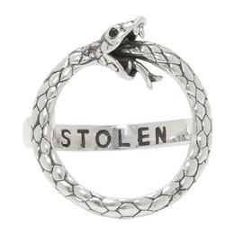 Stolen Girlfriends Club Silver Infinity Snake Ring 192068M14701502GB