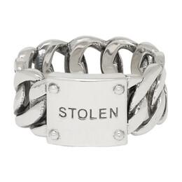 Stolen Girlfriends Club Silver Curb Wide Ring 192068M14701102GB