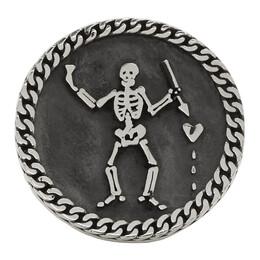 Stolen Girlfriends Club Silver Pirate Sovereign Ring 192068M14701303GB