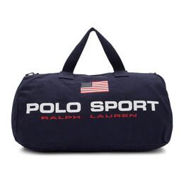 Polo Ralph Lauren Navy Canvas Polo Sport Duffle Bag 192213M16900101GB