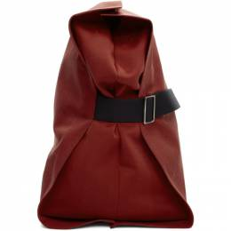 132 5. Issey Miyake Red Unstructured Layered Backpack 192302M16600201GB