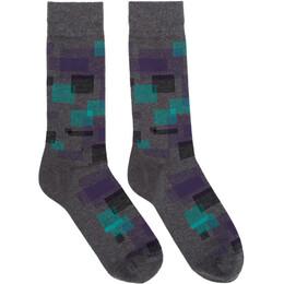 Boss Grey Square Socks 192085M22001701GB