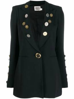 Fausto Puglisi - coin embellished blazer 0636BP65609559563300