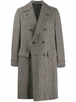 Lardini - houndstooth checked coat 3999A536339538385300