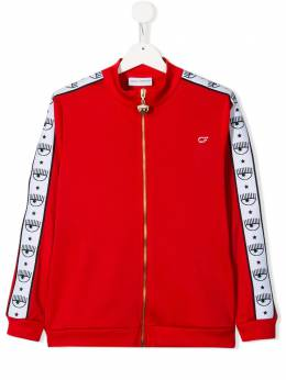 Chiara Ferragni Kids - side stripe track jacket F6939539389900000000