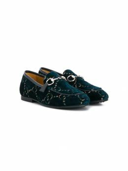 Gucci Kids - monogram velvet loafers 9989TIU6955955880000