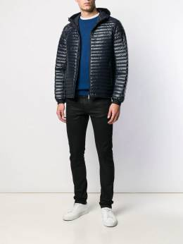 Emporio Armani - ribbed hooded jacket B999NPYZ955956530000