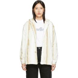 Noon Goons Off-White Powder Hound Fur Jacket 192764F06300204GB