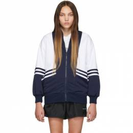 Noon Goons Navy and White Runyon Jacket 192764F06300501GB