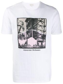 Alexander McQueen - футболка с принтом Industrial Scene 968QNZ9A959695880000