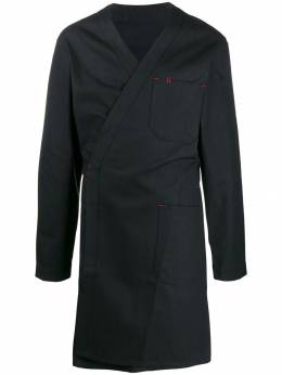 Takahiromiyashita The Soloist - wrapped front coat J6663A95596096000000