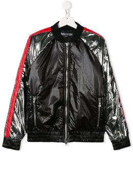 Balmain Kids куртка-бомбер AGT 6L2607LB320