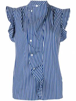 Derek Lam 10 Crosby - draped detail striped shirt 90303NG9535665600000