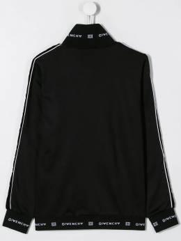 Givenchy Kids - TEEN logo print bomber jacket 99869B95596533000000