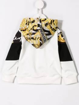 Young Versace - baroque print bomber jacket 66656YA66035YA353955