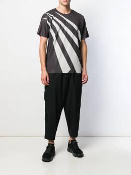 Issey Miyake - футболка в двух тонах 8JK90395336603000000