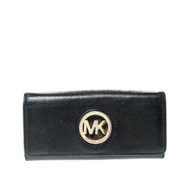 Michael Kors Black Leather Fulton Wallet 219949