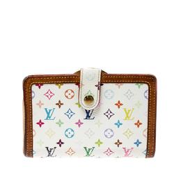 Louis Vuitton White Monogram Multicolore Canvas French Compact Wallet 219943