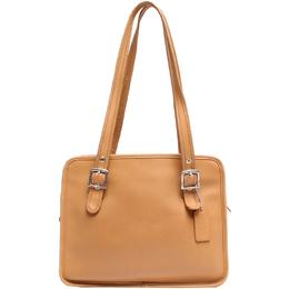 Coach Beige Leather Shoulder Bag 219335
