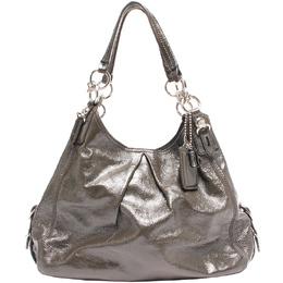 Coach Dark Green Leather Maggie Shoulder Bag 219337