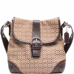 Coach Brown Signature Canvas And Leather Soho Shoulder Bag 219385