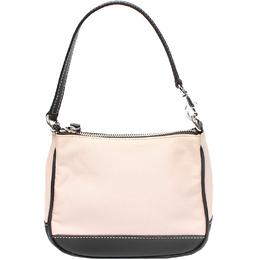 Coach Pink/Black Canvas And Leather Shoulder Bag 219382