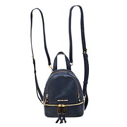 Michael Kors Blue Leather Mini Rhea Backpack 217758