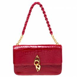 Tom Ford Red Alligator Leather Shoulder Bag 217542