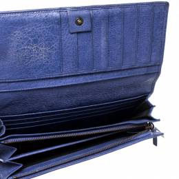Balenciaga Purple Leather Classic Money Long Wallet 217299